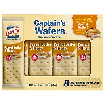 Lance Captain's Wafers Peanut Butter & Honey Sandwich Crackers 2 Box Pack