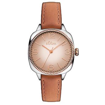 s.Oliver ladies wrist watch analog quartz leather SO-15135-LQR
