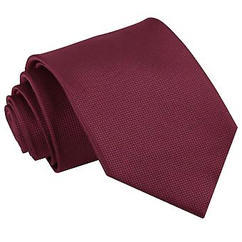Burgundy Solid Check Classic Tie