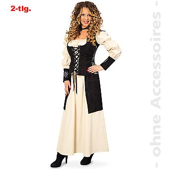 Medieval costume ladies dress maid Lady-in-waiting sutler Lady costume