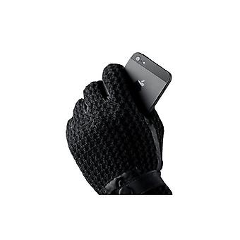 Mujjo Leather Crochet Touchscreen Gloves Unlimited touch experience!