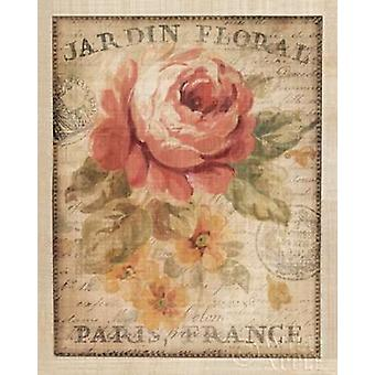 Parisian Flowers II Poster Print by Danhui Nai (24 x 30)