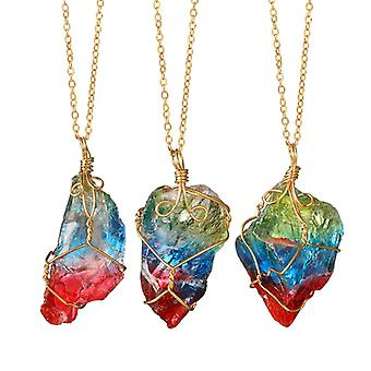 Crystal Necklace-primers with handmade Gold details