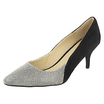 Ladies Anne Michelle Snake Print Court Shoes