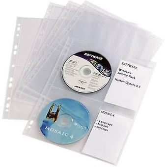 Durable 4 x CD/DVD punched pocket 4 CDs/DVDs/Blu-rays Polypropyl