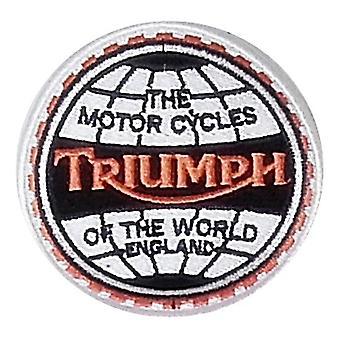 Triumph motorcykler af sy-på verden broderet Patch