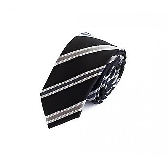 Tie tie tie tie 6cm black grey Fabio Farini white striped