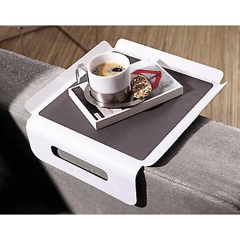 Sofa sofa Butler sofa tray Butler white / grey arm rest Organizer sofa tray