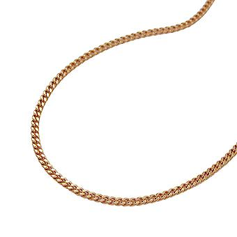 Chain 1 mm 14Kt rose gold curb chain 50 cm