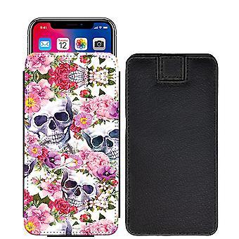 Schädel Custom entworfen gedruckt ziehen Tab Tasche Telefon Fall decken für Motorola Moto Z2 spielen [L] - skull24_web