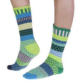 Water Lily recycled cotton multicolour odd-socks   Crafted by Solmate