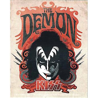 Kiss The Demon Vinyl Aufkleber 130 x 100 mm (cv)