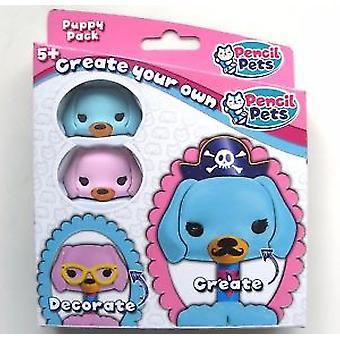 Potlood huisdieren - roze & blauw Puppy Kit