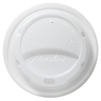 Dobladoras con cúpula blanca papel tazas tapas 09/08/10 oz