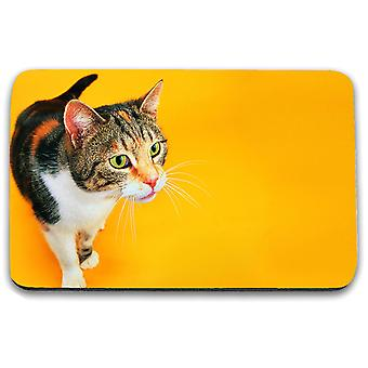 i-Tronixs - Cat Printed Design Non-Slip Rectangular Mouse Mat for Office / Home / Gaming - 14