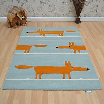 Scion Mr Fox Rugs 25308 Aqua