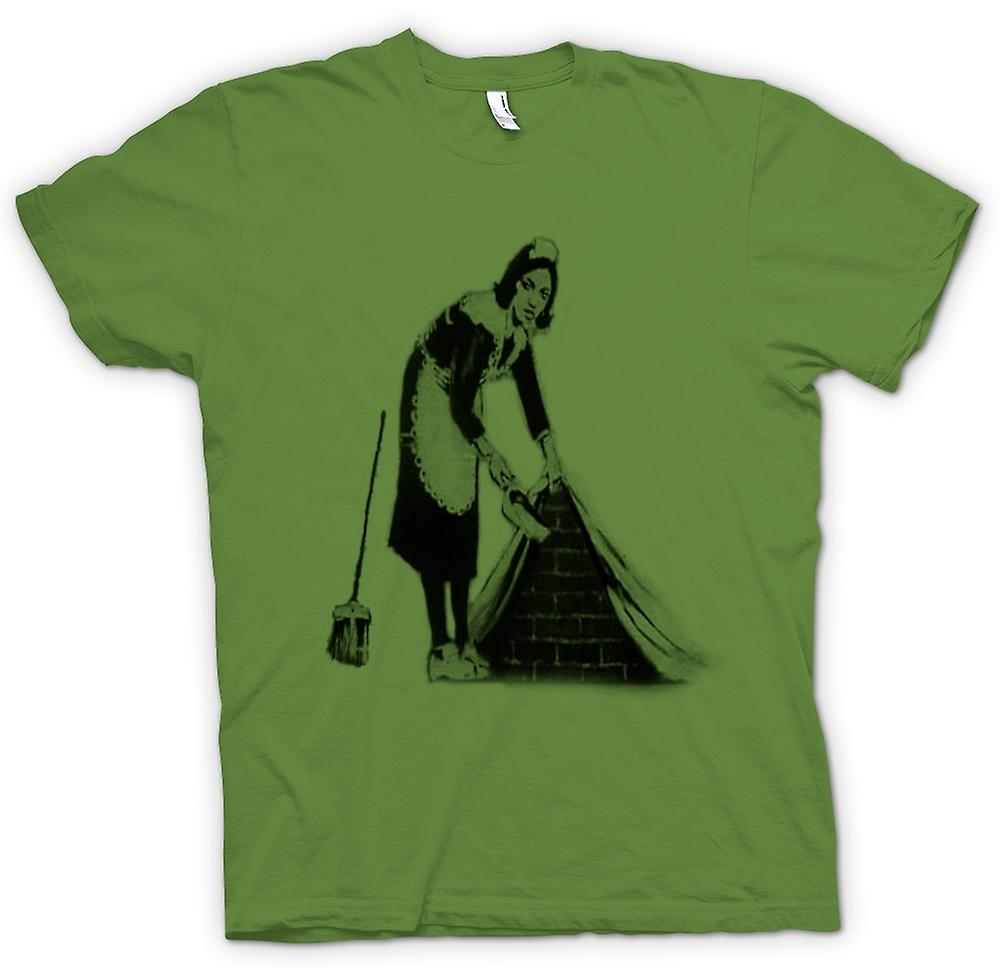 Mens T-shirt - Banksy Graffiti-Kunst - Maid