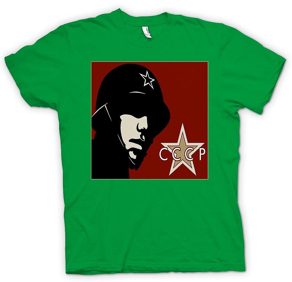 Mens T-shirt - CCCP Russisch - Propagandaplakat
