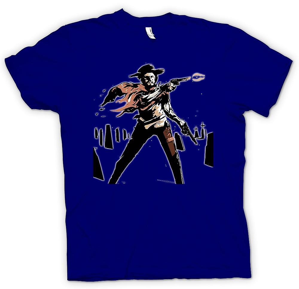 Hommes T-shirt - Spaghetti Western - Cowboy - Croquis