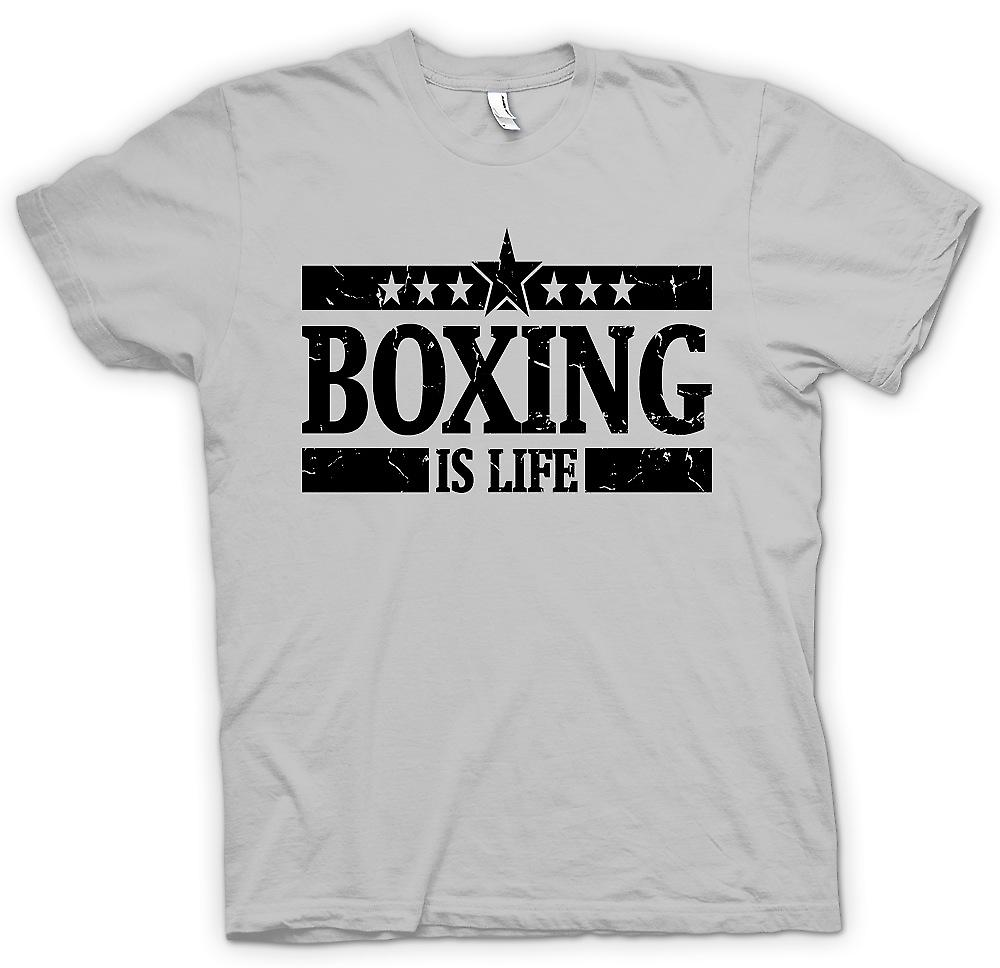 Mens T-shirt - Boxing Is Life - Cool Fighting
