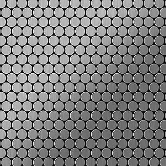 Mosaico metallo solido Acciaio inossidabile ALLOY Penny-S-S-MB