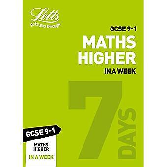 GCSE 9-1 Maths Higher In a Week (Letts GCSE 9-1 Revision Success) (Letts GCSE 9-1 Revision Success)