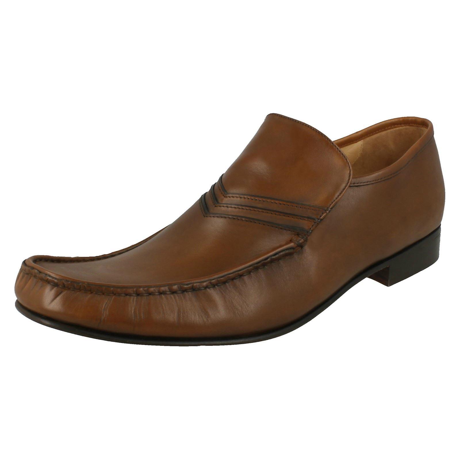 Mens Grenson Slip On Moccasin scarpe Idaho 9682 Mid Marronee Dimensione UK 7F | Speciale Offerta  | Scolaro/Signora Scarpa
