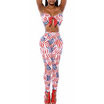 Waooh - Set top and legging American flag motif Bais