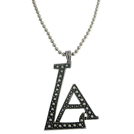 Stunning LA Pendant Affordable Hip Hop Jewelry