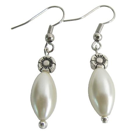 Casual Formal Ensemble Ivory Pearl Wedding Gift Ivory Barrel Earrings