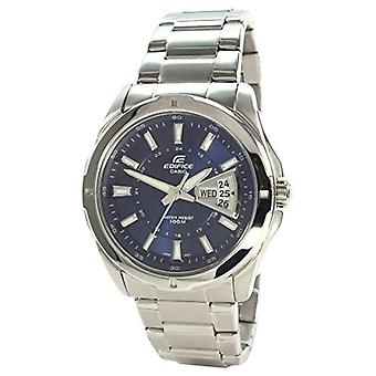 Casio men's analog quartz watch with stainless steel band EF-129D-2AVEF