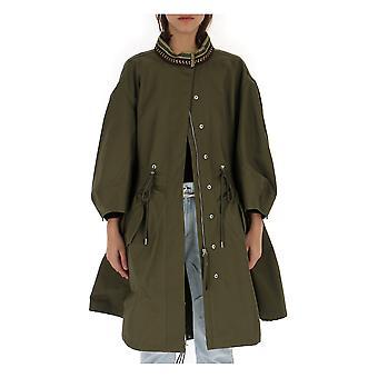 Alberta Ferretti Green Acetate Outerwear Jacket