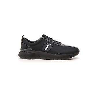Bally Black Leather Sneakers