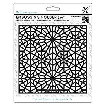 Xcut 6x6 Inch Embossing Folder Moroccan Star Pattern (XCU 515195)