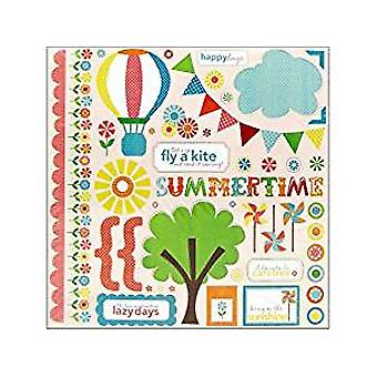 Echo Park Paper Sweet Summertime 12x12 Inch Element Stickers (SS1014)