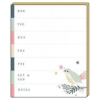 Artfile Wild Berry Weekly Planner Tear Off Pad