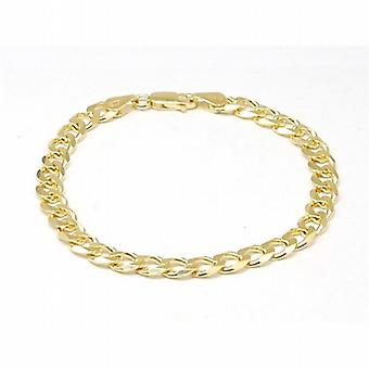 Toc Gold Plate on Silver Gents 9.1 Gram Curb Bracelet