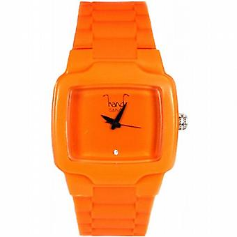 Hand Candy Bumpy Orange Rubber Ladies Watch - HCTVOR