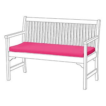 Gardenista® Pink Water Resistant 3 Seater Bench Pad