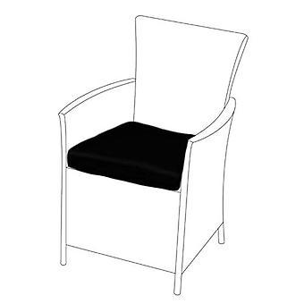Cuscino sedile nero per sedia rattan, confezione da 6