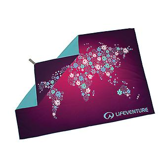 Lifeventure SoftFibre Printed Towel Giant Purple