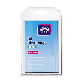 Clean & clear oil absorbing sheets, 50 ea
