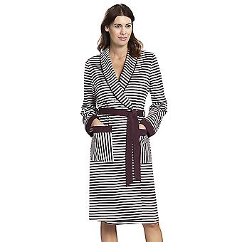 Rosch 1193511-12600 Women's Smart Casual Ruby Red Striped Cotton Robe