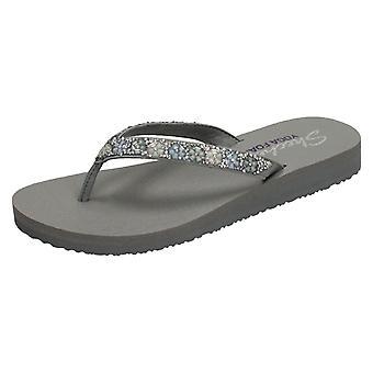 Ladies Skechers Yoga Foam Flip Flops Daisy Delight 31559