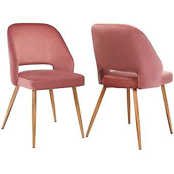 2-pack velvet dining chairs