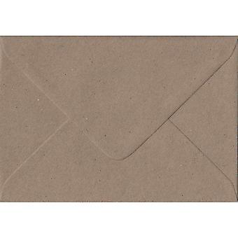 Fleck Kraft gommé C7/A7 colorés enveloppes brunes. 110gsm FSC papier durable. 82 mm x 113 mm. banquier Style enveloppe.