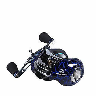 15 seamless bearings right hand centrifugal tuned brake low profile baitcasting fishing reel blue