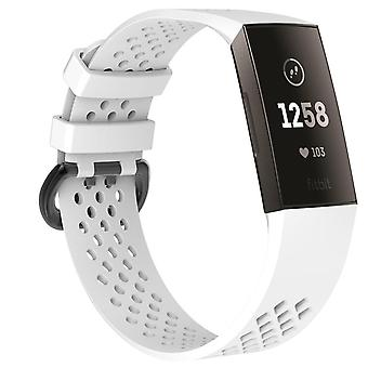 Bakeey pure color silicone smart watch band for fitbit charge 3 smart watch