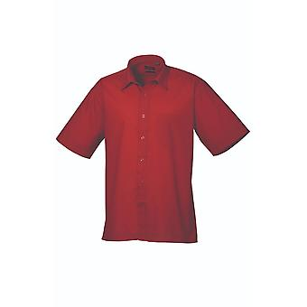 Premier short sleeve poplin shirt pr202 darker colours