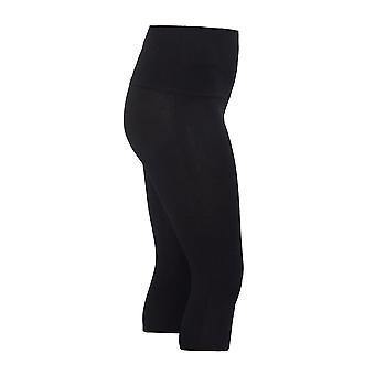 Black TUMMY CONTROL Cropped Leggings